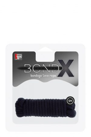 BONDX LOVE ROPE - 5M BLACK T