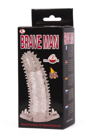 Brave Man Penis sleeve, TPR material, 14x4,2