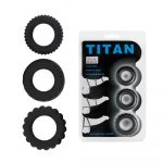 Lybaile Titan 3 in 1 silicone rings Black