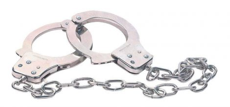 Chrome Handcuffs Metal handcuffs w. key